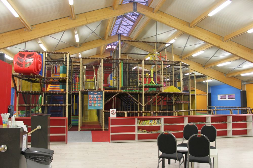 Inside kids playground