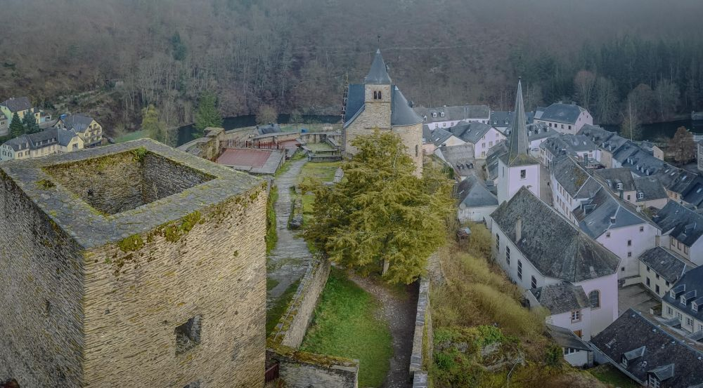 Castle in a village